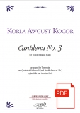 K.A. Kocor: Cantilena No. 3, arr. for Theremin & Quartet of Violoncelli (and Double Bass ad. lib.) – Download